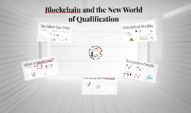 Blockchain and the New World of Qualification