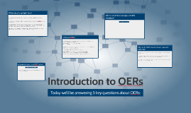 Introduction to OERs
