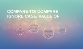 Compare ignore case