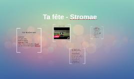 Ta fête - Stromae