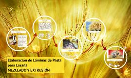 Elaboración de Láminas de Pasta para Lasaña