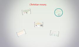 Christian rosary.