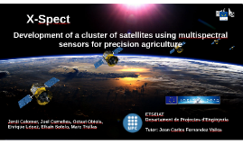 Development of a cluster of satellites using multispectral spectral sensors for precision agriculture