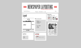 NEWSPAPER LAYOUTING
