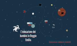L'educazione dei bambini in Reggio Emilia