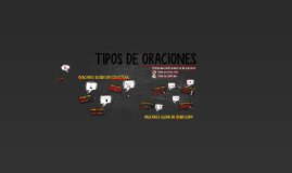 TIPOS DE ORACIONES