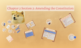 Chapter 3 Section 3: Amending the Constitution