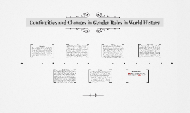 Continuities and Changes in Gender Roles in World History