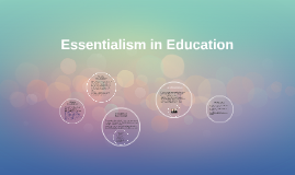 Essentialism in Eucation