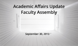 Faculty Assembly 9.30.13