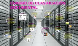 CUADRO DE CLASIFICACIÓN DOCUMENTAL