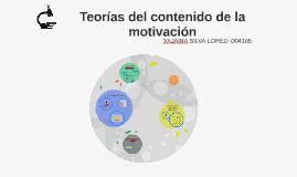 TEORIAS DEL CONTENIDO DE LA MOTIVACION