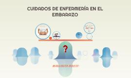 CUIDADOS DE ENFERMERÍA EN EL EMBARAZO