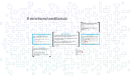 If structures/conditionals