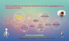 INSTALACIÓN DE UN CENTRO DEPORTIVOS PARA JOVENES EN LA CIUDA