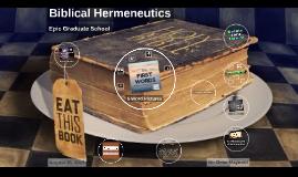 Week 1: MBS551 Biblical Hermeneutics