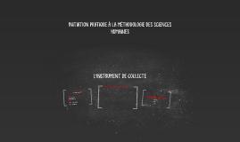 L'INSTRUMENT DE COLLECTE