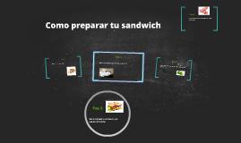 Como prepararte un Sandwich