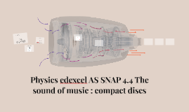 Physics edexcel AS SNAP 4.4 The sound of music : compact discs