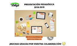 PRESENTACIÓN PEDAGÓGICA - CLASE DEL GATO 2018-19
