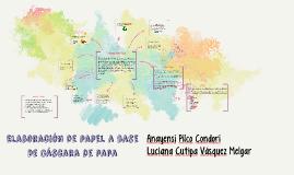 Elaboración de papel a base de cáscara de papa