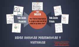 REDES SOCIALES PRESENCIALES Y VIRTUALES