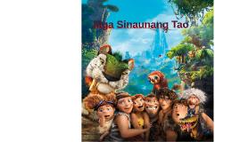 Mga Sinaunang Tao