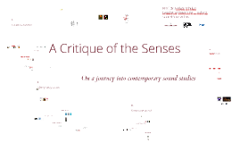 A Critique of the Senses