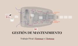 Trabajo Final: GESTIÓN DE MANTENIMIENTO