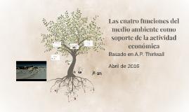 Las cuatro funciones del medio ambiente como soporte de la a