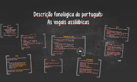 Descrição fonológica do português: