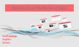 Malcolm X and The Nation of Islam