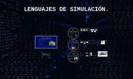 LENGUAJES DE SIMULACIÓN.