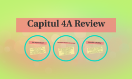 Capitul 4A Review
