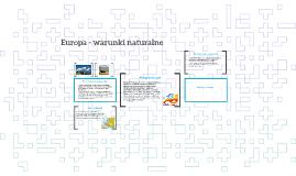 Copy of Europa - warunki naturalne