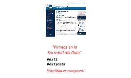Presentación de #da12data en el #CICD