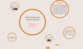 Copy of Relación laboral de carácter especial: