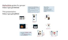 MyPortfolio induction workshop