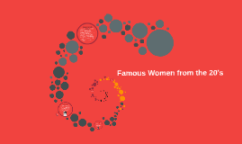Famous Women from the 20's
