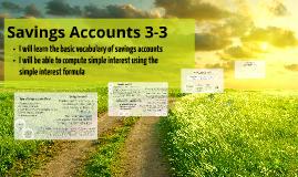 Savings Accounts 3-3