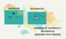 Componentes materiales y relacionales de la pragmática