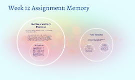 Week 12 Assignment: Memory