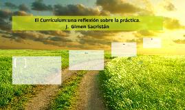 El Currículum:una reflexión sobre la práctica.
