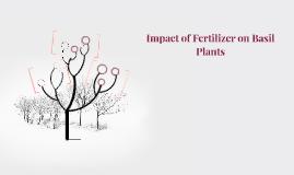 Impact of Fertilizer on Basil Plants