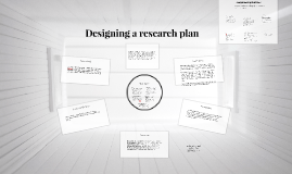 Designing a research plan