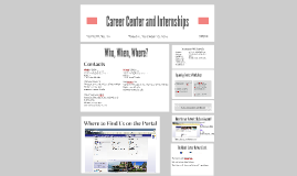 Career Center and Internships