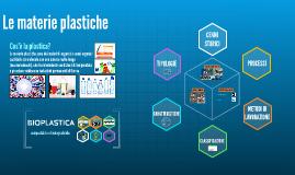 Copy of Le materie plastiche