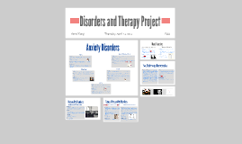 Disorders and Therapy Project