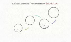 LA BELLE ILOISE : PROPOSITION ÉVÉNEMENT