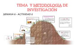 TEMA METODOLOGIA DE INVESTIGACIÓN
